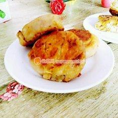 香葱油渣饼的做法