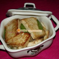 蚝油大葱烧豆腐的做法