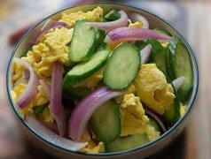 洋葱黄瓜炒鸡蛋的做法视频