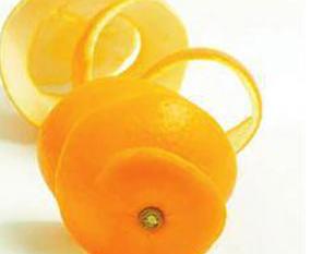 橘子皮清洁皮肤有奇效