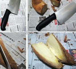四个简单动作剥笋法 图解剥笋的简单快速方法