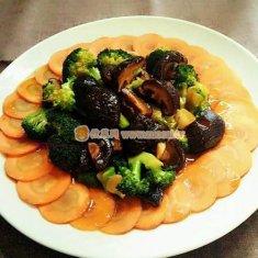 蚝油香菇西兰花的做法