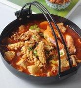 泡菜海鲜豆腐汤的做法视频