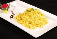 麻油姜末炒鸡蛋
