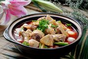 家常川菜芋儿烧鸡的做法视频