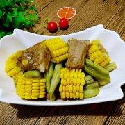 排骨豆角炖玉米的做法