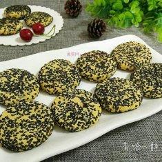 黑芝麻红薯饼(烤箱版)的做法