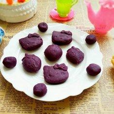 花样紫薯糕的做法