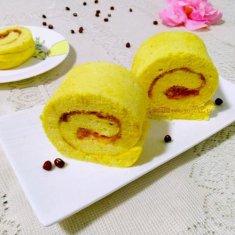 南瓜泥蛋糕卷的做法