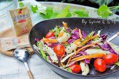 嫩煎鱼柳沙拉的做法