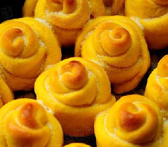 南瓜玫瑰面包的家常做法