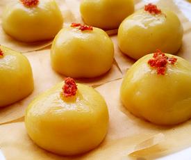 南瓜红豆糯米果的家常做法