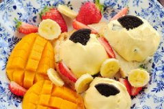 芒果软冰淇淋的做法