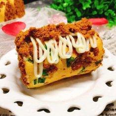 香葱肉松蛋糕卷的做法