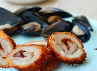 清水贻贝搭配梅酱猪肉卷 营养早餐