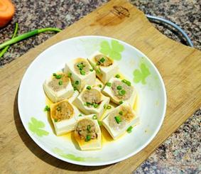 猪肝豆腐酿的家常做法