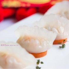水晶虾仁蒸饺的做法