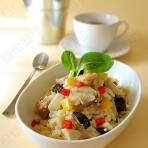 鸡肉蘑菇炖饭