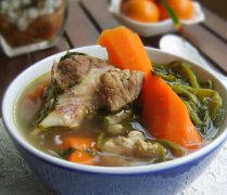 【西洋菜猪骨汤】西洋菜猪骨汤的功效