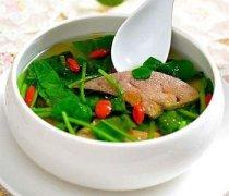 【猪肝汤的做法】猪肝汤怎么做好吃_猪肝汤的功效