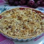 核桃酥粒草莓派