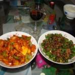 菠萝古老肉PK肉末杭椒