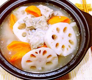 排骨莲藕胡萝卜汤的家常做法