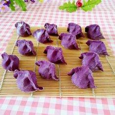 紫薯饺子的做法