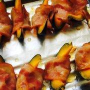 南瓜烤培根卷的做法