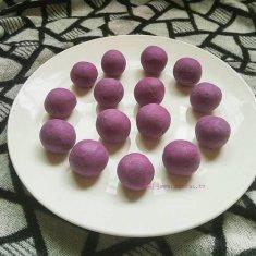 奶香紫薯丸子的做法
