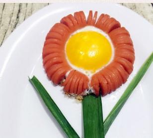 向日葵煎蛋的家常做法