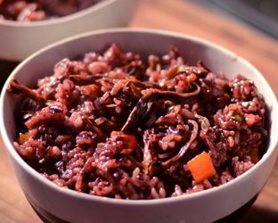 干豆角排骨焖饭的家常做法