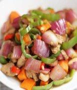 【洋葱胡萝卜炒肉片】洋葱胡萝卜炒肉片怎么做好吃_洋葱胡萝卜炒肉片