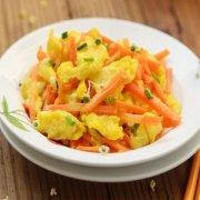 【胡萝卜炒鸡蛋】胡萝卜炒鸡蛋的做法_洋葱胡萝卜炒鸡蛋