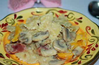 白酱蘑菇意面的家常做法