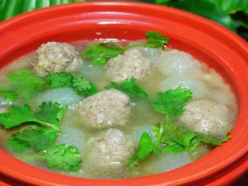冬瓜羊肉丸子汤的家常做法