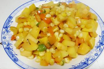 红薯炒玉米的家常做法