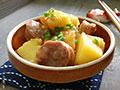 腊肠蒸土豆的做法